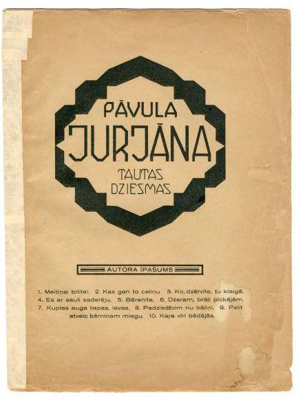 Tautas dziesmas Pāvula Jurjāna apdarē