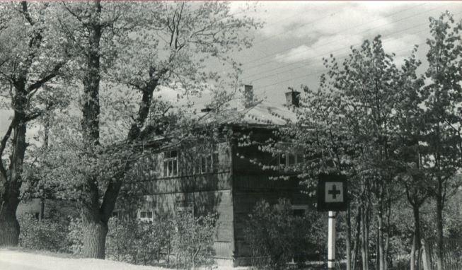 Vecās slimnīcas ēka, Tilta ielā 3, Lubānā. 1980.gadsecās slimnīcas ēka, Tilta ielā 3, Lubānā. 1980.gads