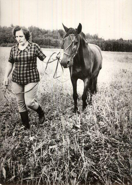 Ar pasta zirgu 1980.gadu sākumā