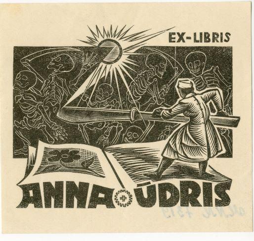 Ex Libris Anna Ūdris 1966.gads
